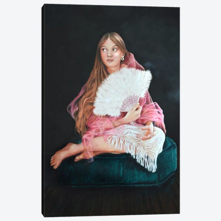 The Only Daughter  Canvas Print #HMR108} by Anna Hammer Canvas Wall Art