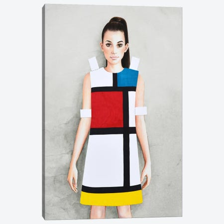 YSL 1965 Canvas Print #HMR120} by Anna Hammer Canvas Art