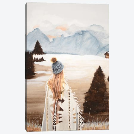 Oh To The Mountains I Go Canvas Print #HMR128} by Anna Hammer Canvas Art