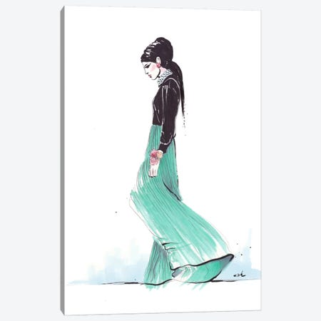 Breezy Morning Canvas Print #HMR12} by Anna Hammer Canvas Artwork