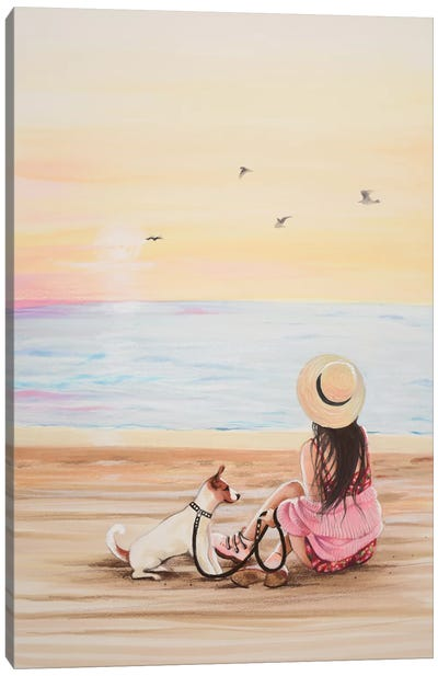 The Beach Canvas Art Print