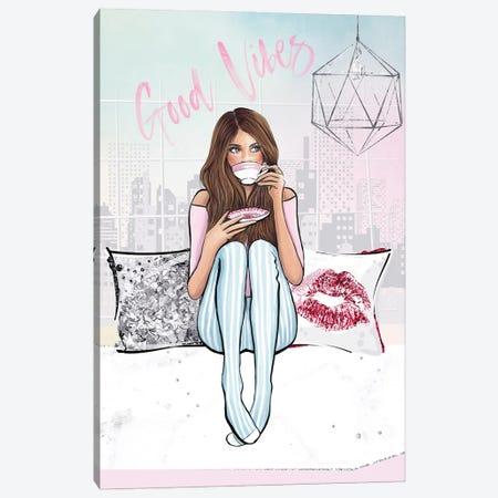 Good Vibes Canvas Print #HMR137} by Anna Hammer Canvas Art