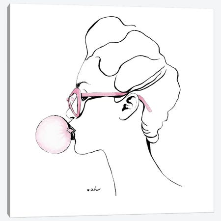Bubble Gum Canvas Print #HMR13} by Anna Hammer Canvas Art