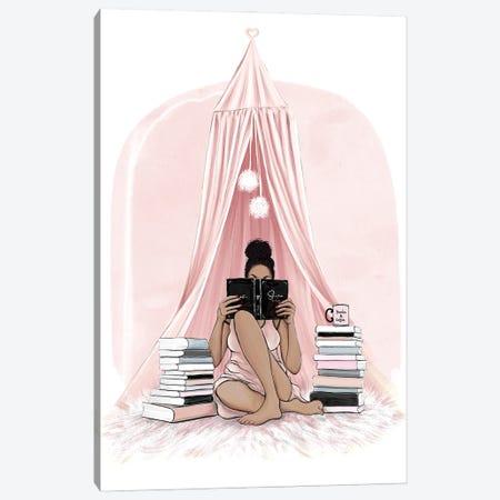 Books And Coffee Canvas Print #HMR140} by Anna Hammer Canvas Wall Art