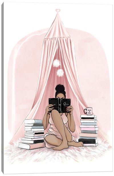 Books And Coffee Canvas Art Print