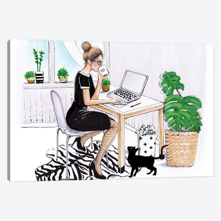 Boss Babe Canvas Print #HMR141} by Anna Hammer Canvas Art