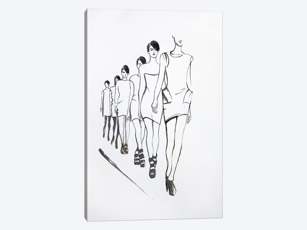 Cat Walk 1-piece Canvas Art Print