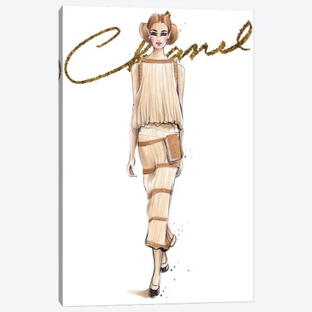 Chanel V With Logo Canvas Print #HMR22} by Anna Hammer Canvas Print