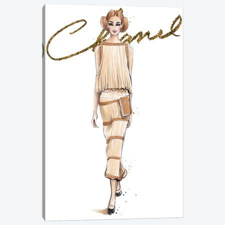Chanel V With Logo Canvas Print #HMR22} by Anna Hammer Canvas Print