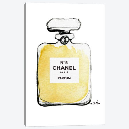 Chanel No 5 Canvas Print #HMR23} by Anna Hammer Canvas Print