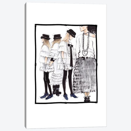 Chanel RTW Canvas Print #HMR24} by Anna Hammer Canvas Art