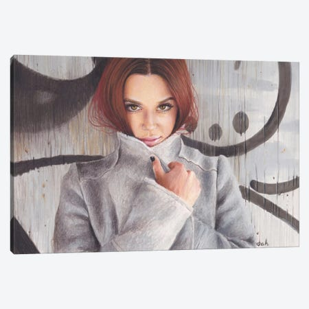 Cold Grey Canvas Print #HMR30} by Anna Hammer Canvas Wall Art