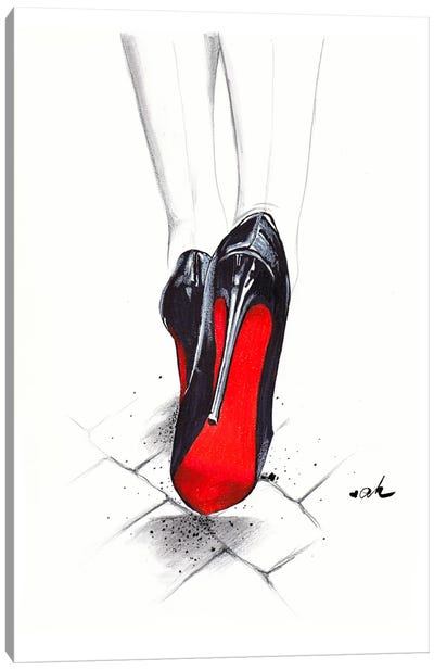 Devil Wears Louboutin Canvas Art Print