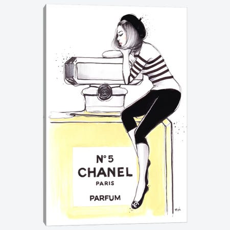 Dreaming Of Chanel Canvas Print #HMR35} by Anna Hammer Canvas Art Print