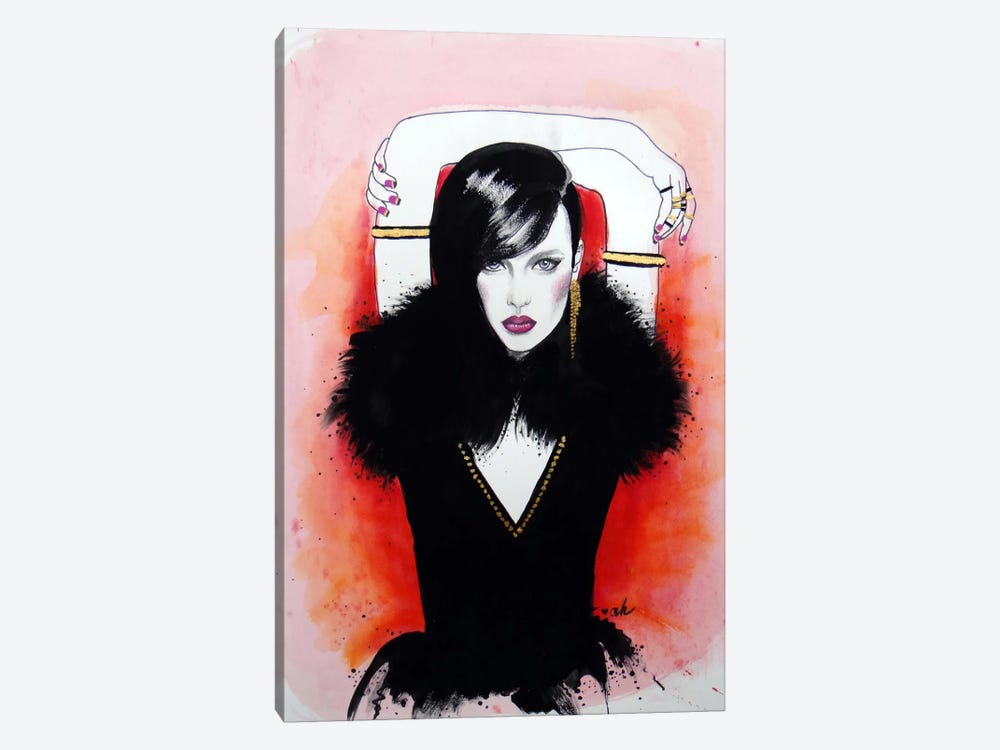 Girl On Fire by Anna Hammer 1-piece Canvas Wall Art