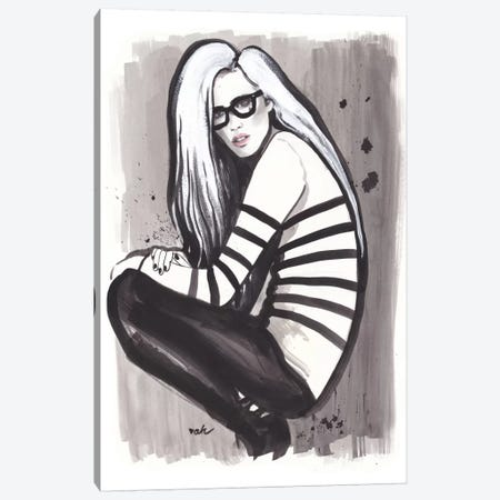 Girl, Glasses, And Gaultier Canvas Print #HMR46} by Anna Hammer Canvas Artwork