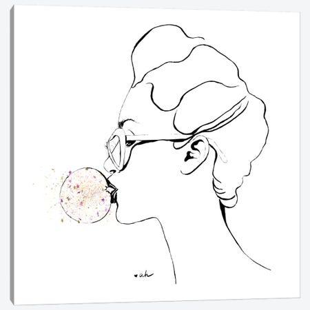 Glitter Bubble Gum 3-Piece Canvas #HMR47} by Anna Hammer Canvas Art