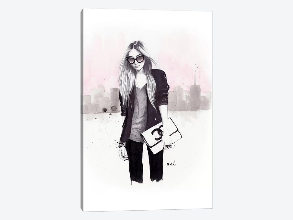 Back In Black by Anna Hammer 1-piece Canvas Art Print