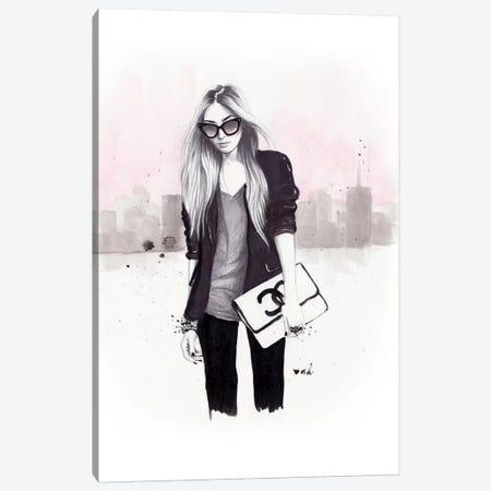 Back In Black Canvas Print #HMR4} by Anna Hammer Art Print