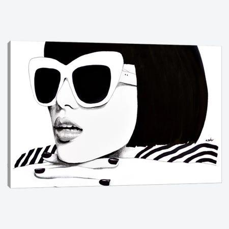 Hello Darling Canvas Print #HMR59} by Anna Hammer Canvas Artwork