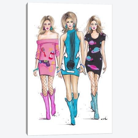 JS Hot Blondes Canvas Print #HMR65} by Anna Hammer Canvas Art