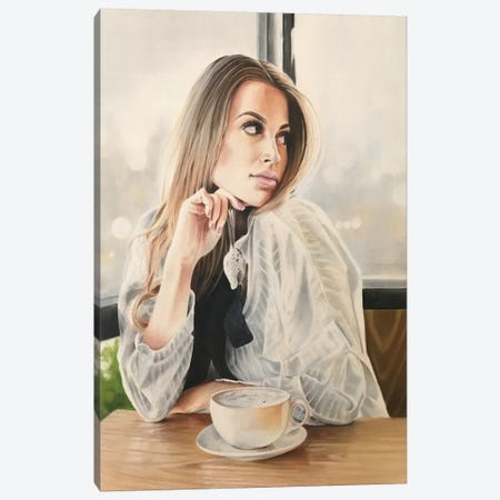Latte Canvas Print #HMR69} by Anna Hammer Canvas Print