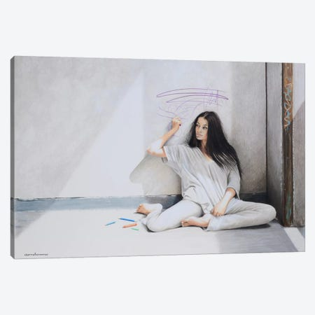 Beautiful Mind Canvas Print #HMR6} by Anna Hammer Canvas Art Print