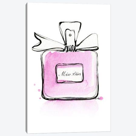 Miss Dior Canvas Print #HMR78} by Anna Hammer Canvas Art