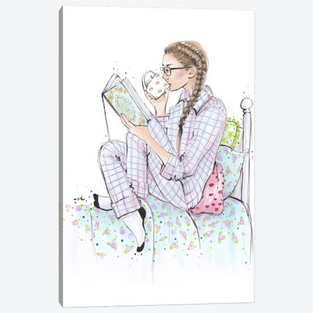My Mornings With Jane Canvas Print #HMR81} by Anna Hammer Art Print
