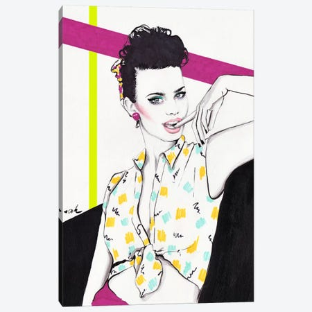 Nagel Girl Canvas Print #HMR83} by Anna Hammer Canvas Art Print