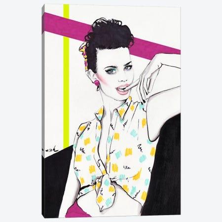 Nagel Girl Canvas Print #HMR83} by Anna Hammer Canvas Art Print