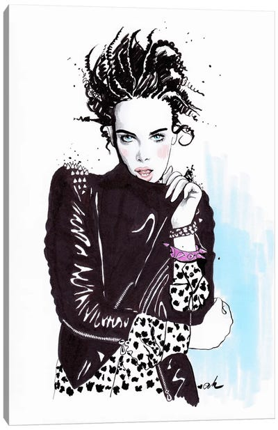 Rock And Leather Canvas Art Print