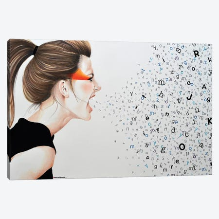 Scream No Evil Big And Good Canvas Print #HMR96} by Anna Hammer Art Print