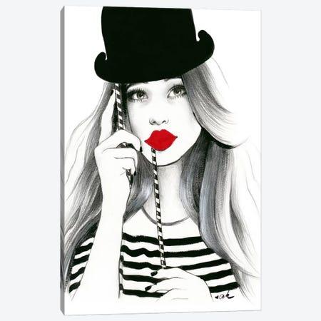 Sentimental Red 3-Piece Canvas #HMR98} by Anna Hammer Canvas Artwork