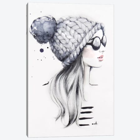 She Said She Had The World Of Her Own Canvas Print #HMR99} by Anna Hammer Canvas Wall Art