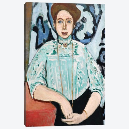 Portrait of Greta Moll Canvas Print #HMT1} by Henri Matisse Canvas Art