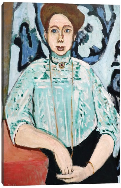Portrait of Greta Moll Canvas Art Print