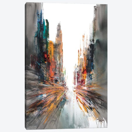 Never Mind Street Canvas Print #HND13} by Henri Dulm Canvas Art