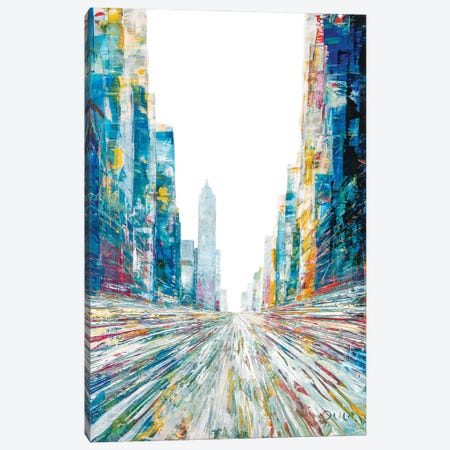 Spring Again Street Canvas Print #HND16} by Henri Dulm Canvas Art Print