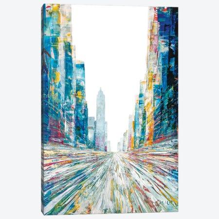 Spring Again Street Canvas Print #HND16} by Henri Dulm Canvas Art Print