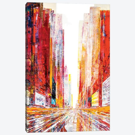 Straight To Montreal Canvas Print #HND17} by Henri Dulm Art Print