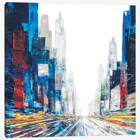 Try Again Street Canvas Print #HND18} by Henri Dulm Canvas Art