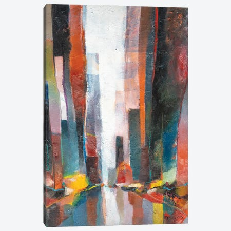 Curtains Street Canvas Print #HND34} by Henri Dulm Art Print