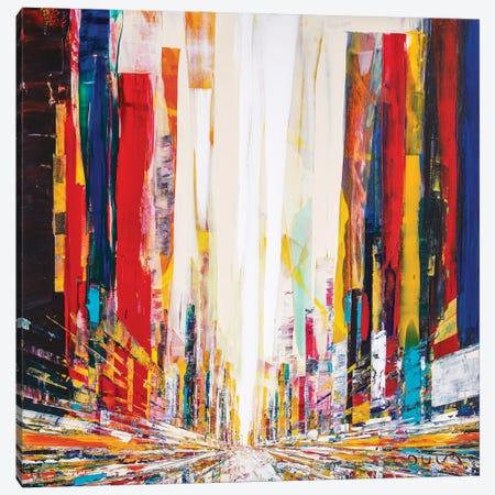 Montreal Street Canvas Print #HND36} by Henri Dulm Canvas Art Print
