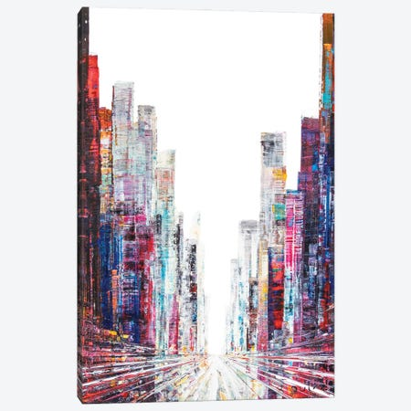New Yorker Street Canvas Print #HND37} by Henri Dulm Canvas Art Print