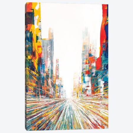 My Butterfly Street Canvas Print #HND3} by Henri Dulm Canvas Wall Art