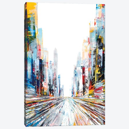 Ferry Street Canvas Print #HND8} by Henri Dulm Canvas Wall Art