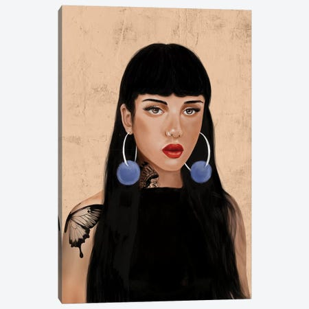 Rebel Girl IV Canvas Print #HNO10} by Henrique Nobrega Art Print