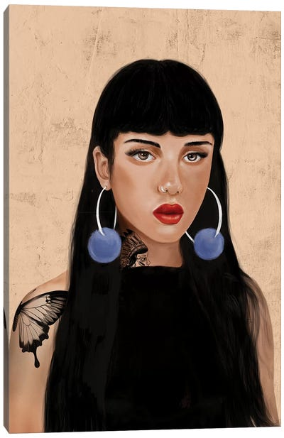 Rebel Girl IV Canvas Art Print