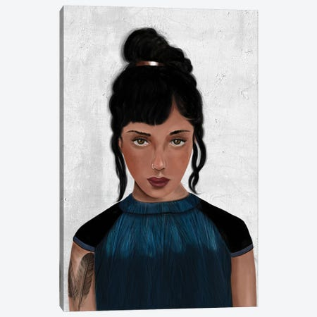 Rebel Girl VI Canvas Print #HNO11} by Henrique Nobrega Canvas Print